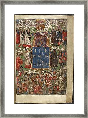Cranmer's Bible Framed Print by British Library