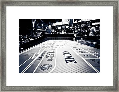 Craps Table In Las Vegas Framed Print