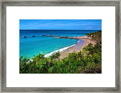 Crash Boat Beach 1 Framed Print