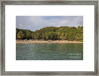 Framed Print featuring the photograph Crash Boat Beach In Puerto Rico by Bryan Mullennix