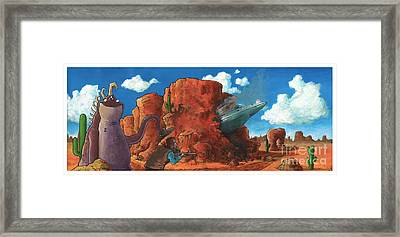 Crash Landing Framed Print by Richardson Comly