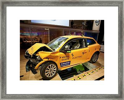 Crash-tested Volvo C30 Electric Car Framed Print by Jim West