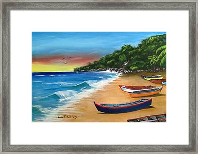 Crashboat Beach Wonder Framed Print