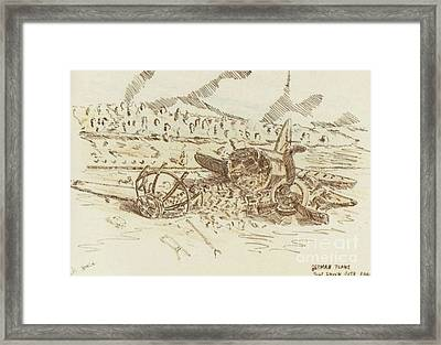 Crashed German Plane Framed Print