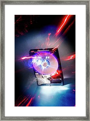 Crashed Hard Drive Framed Print by Richard Kail