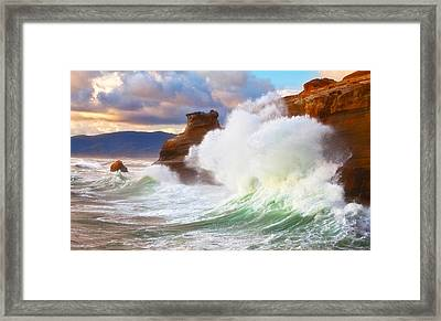 Crashing Kiwanda Framed Print by Darren  White