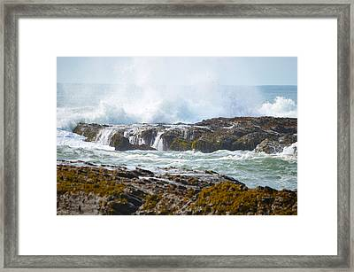 Crashing Surf Framed Print