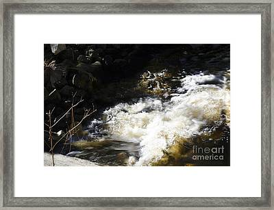 Crashing Water Framed Print