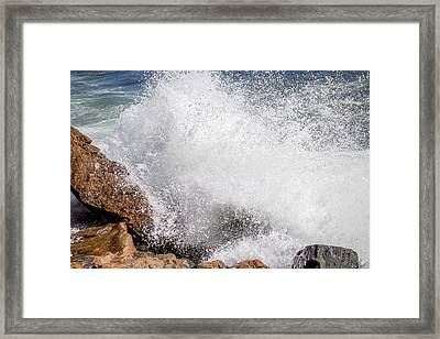 Framed Print featuring the photograph Crashing Wave Acadia  by Trace Kittrell