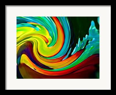 Crasning Waves Framed Prints
