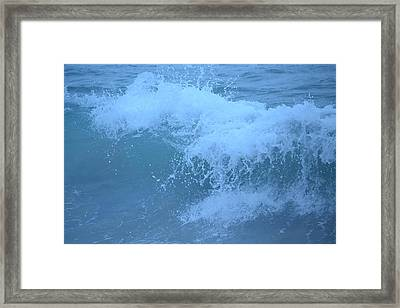 Crashing Wave Framed Print by Kiros Berhane