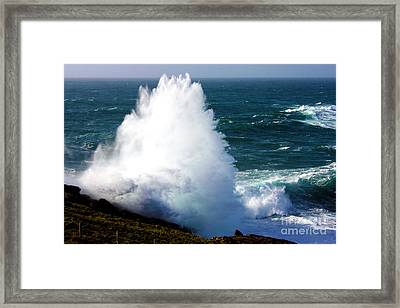 Crashing Wave Framed Print by Terri Waters