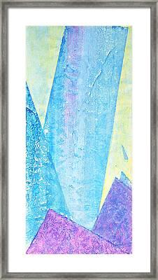 Crashing Waves And Rocks Framed Print by Asha Carolyn Young