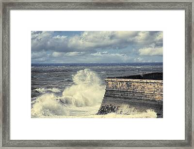 Crashing Waves Framed Print by Amanda Elwell
