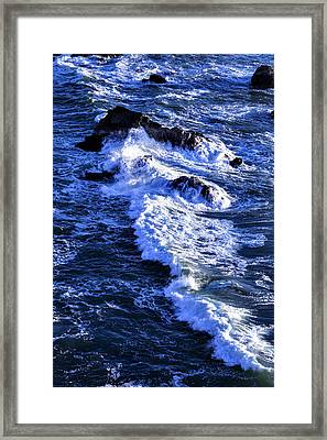 Crashing Waves Framed Print by Garry Gay