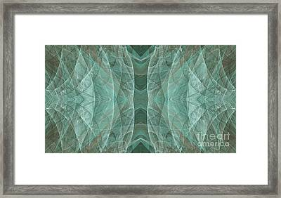 Crashing Waves Of Green 3 - Abstract - Fractal Art Framed Print