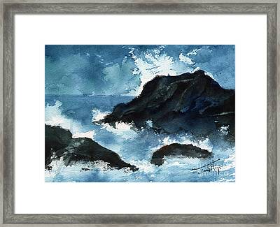 Crashing Waves Of Porto Escondido Mexico Framed Print