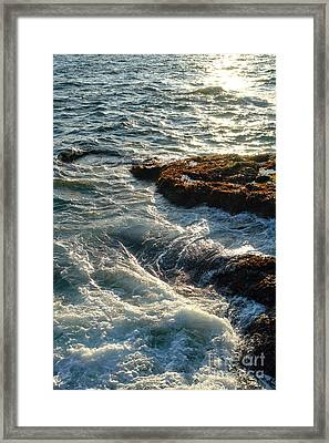 Crashing Waves Framed Print by Olivier Le Queinec