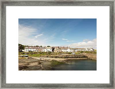 Craster Village And Harbour Framed Print by Ashley Cooper