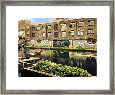 Crate Brewery Canal Side River Lea Framed Print by David French