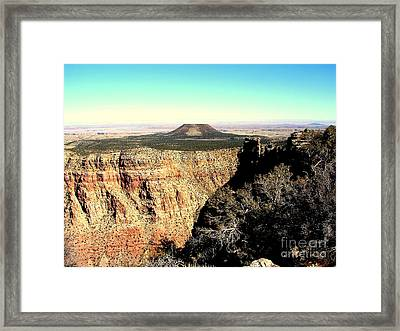 Crater At Grand Canyon Framed Print by John Potts
