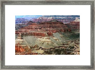 Crater Colors Framed Print by John Rizzuto