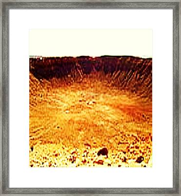 Crater Framed Print by Joan Shortridge