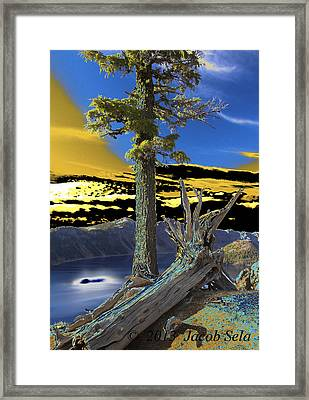 Crater Lake Framed Print by Jacob Sela