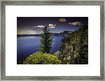Crater Lake Framed Print by Jean-Jacques Thebault