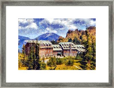 Crater Lake Lodge Framed Print
