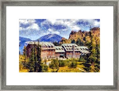 Crater Lake Lodge Framed Print by Kaylee Mason