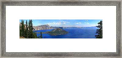 Crater Lake Framed Print by Melisa Meyers
