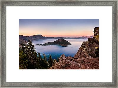 Crater Lake National Park Framed Print by Alexis Birkill