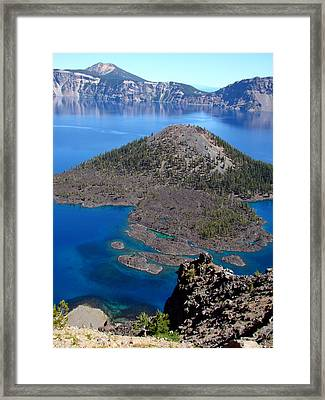 Crater Lake National Park Framed Print by Qing Yang