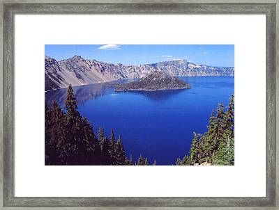 Framed Print featuring the photograph Crater Lake Oregon by Mary Bedy