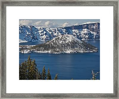 Crater Lake Oregon Framed Print by Steven Lapkin