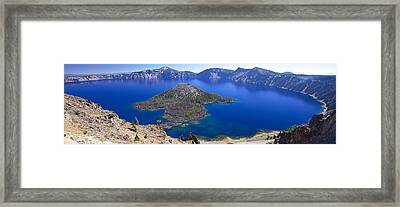 Framed Print featuring the photograph Crater Lake Panorama 090914a by Todd Kreuter