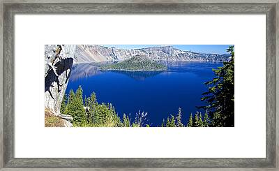 Framed Print featuring the photograph Crater Lake Panorama 090914b by Todd Kreuter