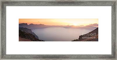 Crater Lake Panorama Framed Print