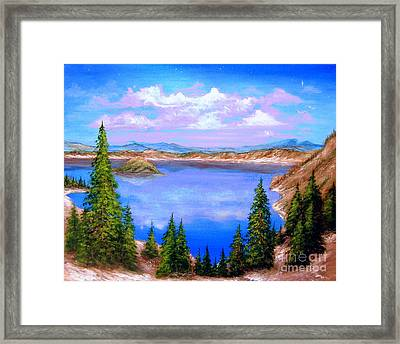 Crater Lake Oregon Framed Print by Patrice Torrillo
