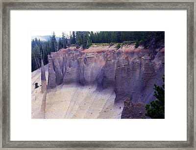 Crater Lake Pinnacles Framed Print by Michael Courtney