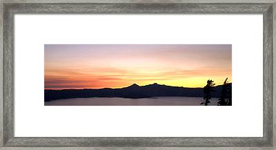 Crater Lake Sunset Framed Print by Brian Harig