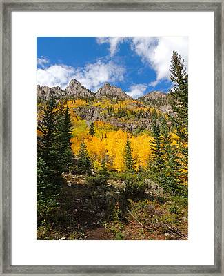 Crater Lake Trail 2 Framed Print by Steve Anderson