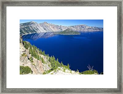 Framed Print featuring the photograph Crater Lake Wizard Island 090910a by Todd Kreuter