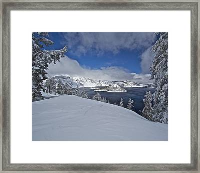 Framed Print featuring the photograph Crater Lake/ Wizard Island by Todd Kreuter