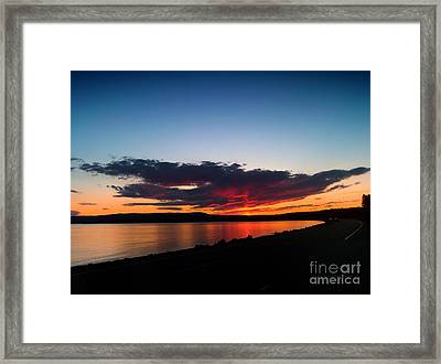 Crater Lake Yellowstone National Park Montana Framed Print by Thomas Woolworth