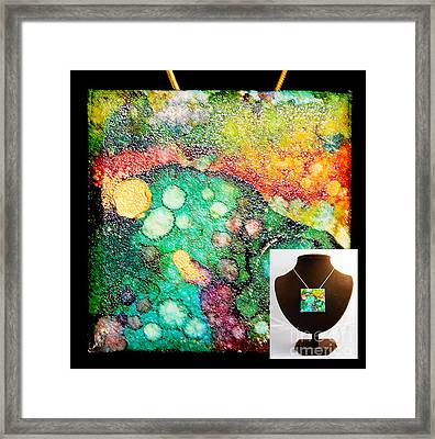 Crater Mountain Necklace Framed Print