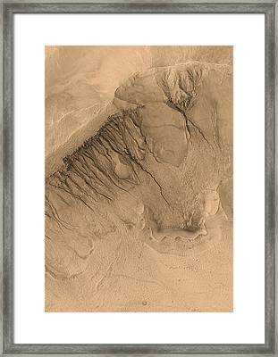 Crater On Mars Framed Print by Anonymous
