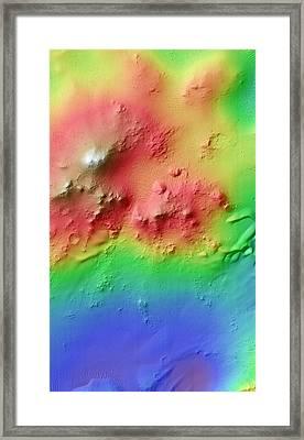 Crater Uplift Framed Print