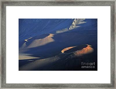 Craters At Sunset Framed Print by Sami Sarkis